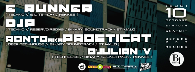 E-Runner / D'JP / Ronto / D'Julian V @ Before Bar
