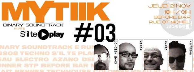 21 nov Mytiik #3band